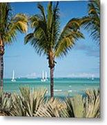 White Sails. Mauritius Metal Print