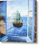 White Sails Metal Print
