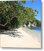 White Sand And Blue Sky Metal Print