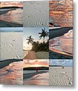 White Sand And Fire Water By Julia Fine Art  Metal Print