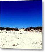 White Sand Blue Skies Metal Print