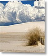 White Sands Cross Metal Print