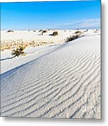 White Sands - Morning View White Sands National Monument In New Mexico. Metal Print