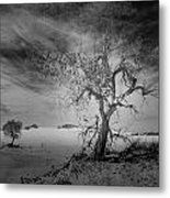 White Sands National Monument 1 Dark Mono Metal Print