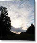 White Skies Above Metal Print