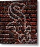 White Sox Baseball Graffiti On Brick  Metal Print by Movie Poster Prints