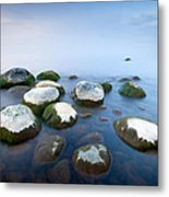 White Stones In The Water Metal Print by Anna Grigorjeva