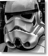 White Stormtrooper Metal Print by David Doyle