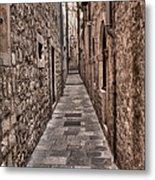 White Streets Of Dubrovnik No3 Metal Print