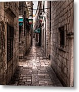 White Streets Of Dubrovnik No5 Metal Print