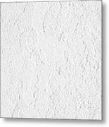 White Stucco Metal Print