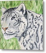 White Tiger Too Metal Print