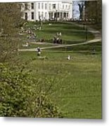 White Villa In Sonsbeek Park In Arnhem Netherlands Metal Print
