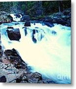 White Water On The Ohanapecosh River  Metal Print
