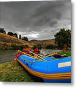 White Water Rafting Boat Metal Print