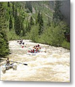 Animas River White Water Rafting The  Metal Print
