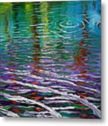 White Waves And Ripple Metal Print