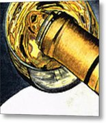 White Wine Art - Lap Of Luxury - By Sharon Cummings Metal Print