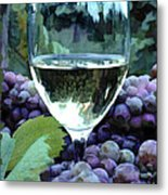 White Wine Reflections Metal Print