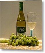 White Wine Still Life 1 Metal Print