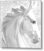 White Winter Horse 1 Metal Print