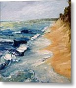Whitecaps On Lake Michigan 3.0 Metal Print
