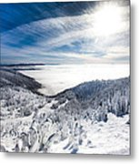 Whitefish Inversion Metal Print