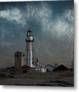 Whitefish Point Lighthouse Lake Superior Metal Print