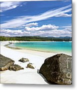 Whitehaven Beach Metal Print by Shannon Rogers