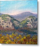Whitehorse And Cathedral Ledges From The Red Jacket Inn Metal Print