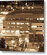Whitehorse Downtown At Night Metal Print