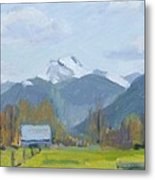 Whitehorse Mountain East Arlington Metal Print