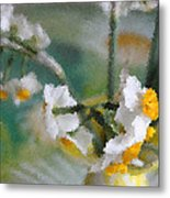 Whiteness In The Vase Metal Print
