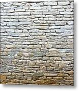 Whitewash Old Stone Wall Metal Print