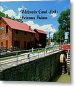 Whitewater Canal Locks Metal Print