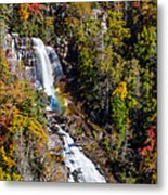 Whitewater Falls With Rainbow Metal Print