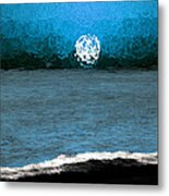 Whitewater In The Moonlight Metal Print