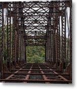 Whitford Railway Truss Bridge Metal Print