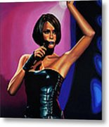 Whitney Houston On Stage Metal Print