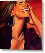 Whitney Houston Metal Print by Paul Meijering