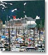 Whittier Alaska Boat Harbor Metal Print