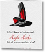 Who Invented High Heels? Metal Print