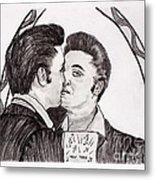 Elvis Who Loves Ya Baby? Metal Print