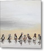 Who Will Love A Little Sparrow Metal Print