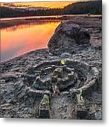 Whonnock Lake Sand Castle Metal Print