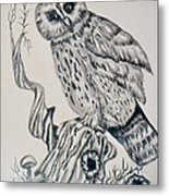 Whooo Are You Metal Print