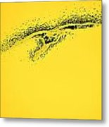 Whooper Swan Yellow Abstract Metal Print