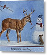 Whose Carrot Seasons Greeting Metal Print