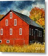 Why Do They Paint Barns Red? Metal Print