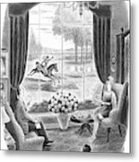 Why, It's Daphne - Home From Foxcroft Metal Print